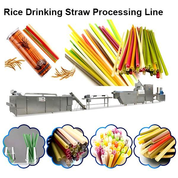 Biodegradable Degradable Drinking Straw No Plastic Straws Processing Line #1 image